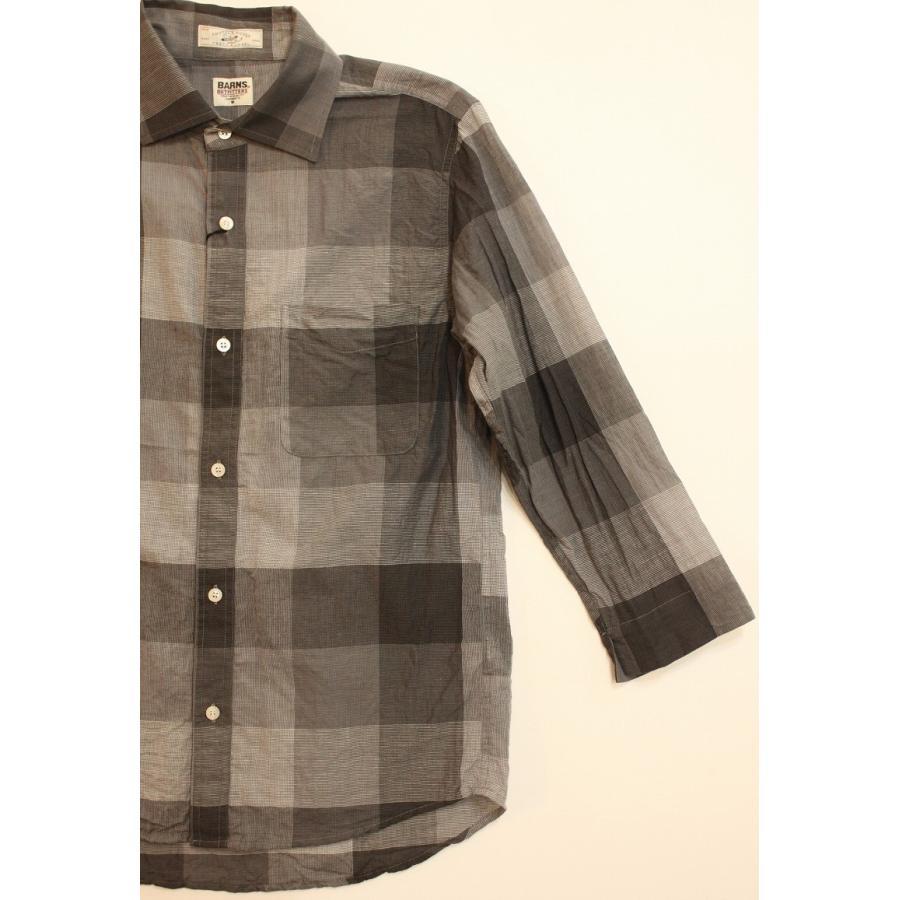 バーンズ barns outfitters シャトルノーツ8.5分袖シャツ|plus-c|05