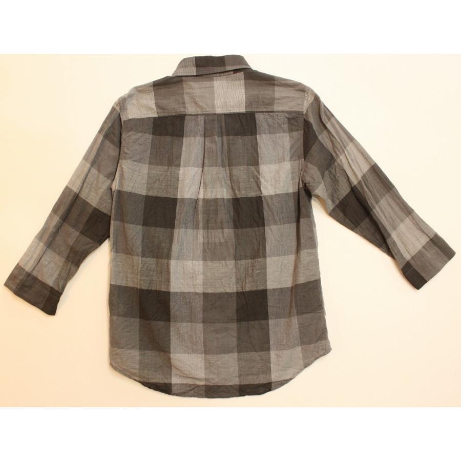 バーンズ barns outfitters シャトルノーツ8.5分袖シャツ|plus-c|06