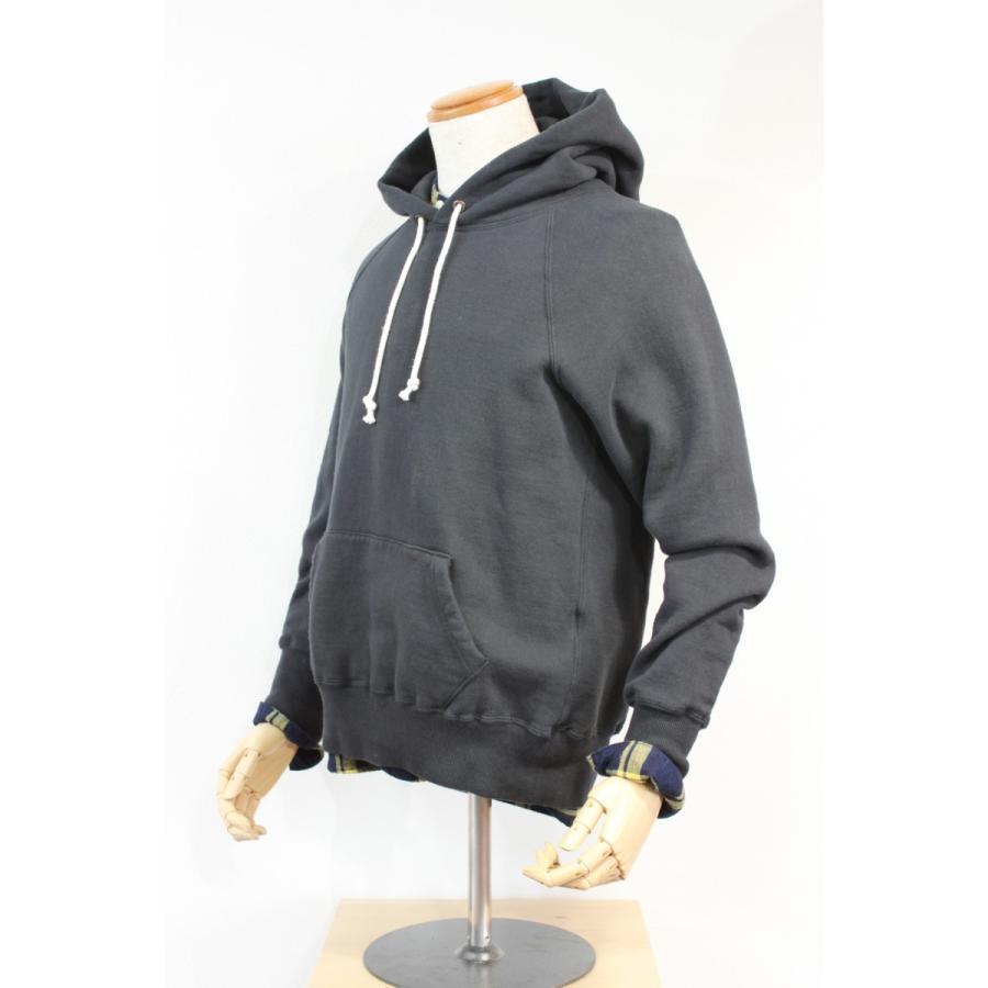 吊り編み裏起毛 フリーダムスリーブプルオーバーパーカー 今城メリヤス PATCHII|plus-c|02