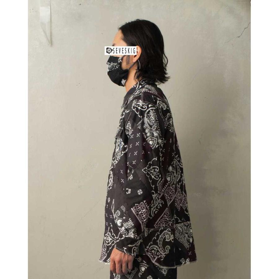 SEVESKIG(セヴシグ) BAN-DANA P.W SHIRT バンダナパッチワークシャツ plus-c 02