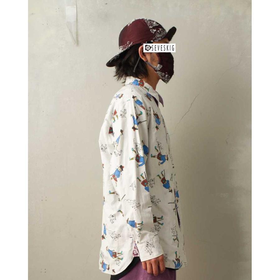 SEVESKIG(セヴシグ) BAN-DANA P.W SHIRT バンダナパッチワークシャツ plus-c 11