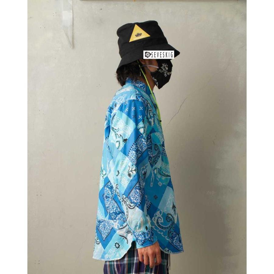 SEVESKIG(セヴシグ) BAN-DANA P.W SHIRT バンダナパッチワークシャツ plus-c 15