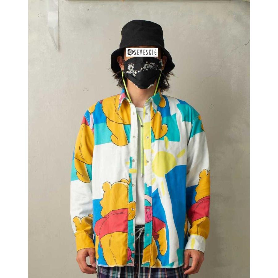 SEVESKIG(セヴシグ) BAN-DANA P.W SHIRT バンダナパッチワークシャツ plus-c 16