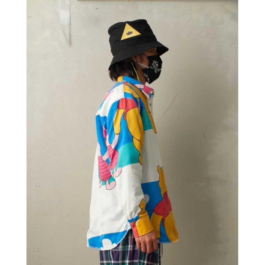 SEVESKIG(セヴシグ) BAN-DANA P.W SHIRT バンダナパッチワークシャツ plus-c 18