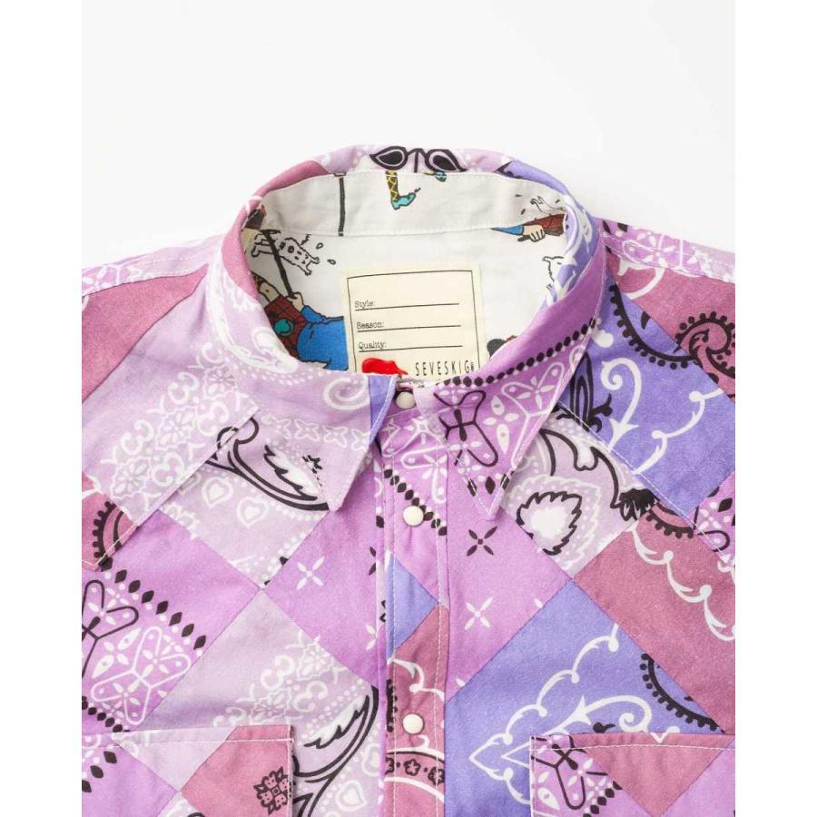 SEVESKIG(セヴシグ) BAN-DANA P.W SHIRT バンダナパッチワークシャツ plus-c 19
