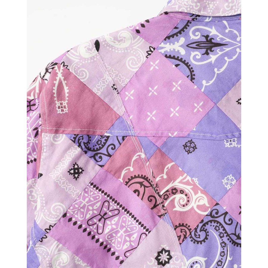 SEVESKIG(セヴシグ) BAN-DANA P.W SHIRT バンダナパッチワークシャツ plus-c 20