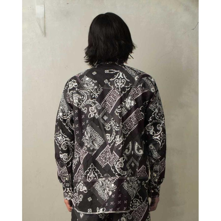 SEVESKIG(セヴシグ) BAN-DANA P.W SHIRT バンダナパッチワークシャツ plus-c 03