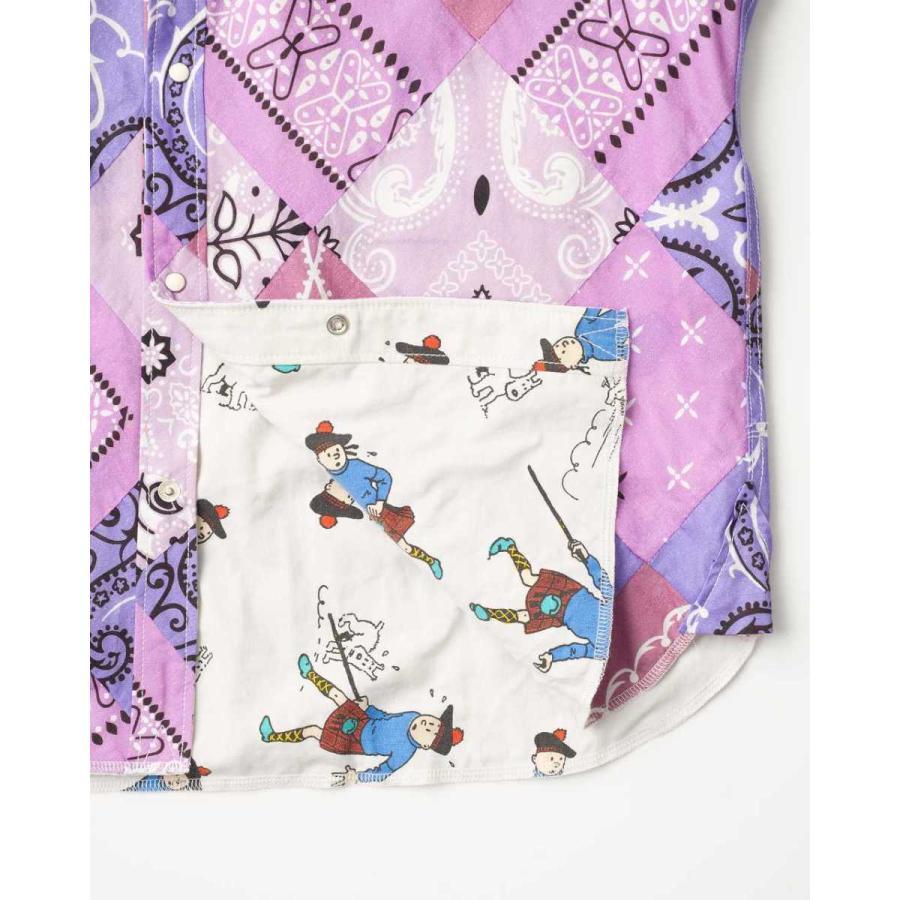 SEVESKIG(セヴシグ) BAN-DANA P.W SHIRT バンダナパッチワークシャツ plus-c 21