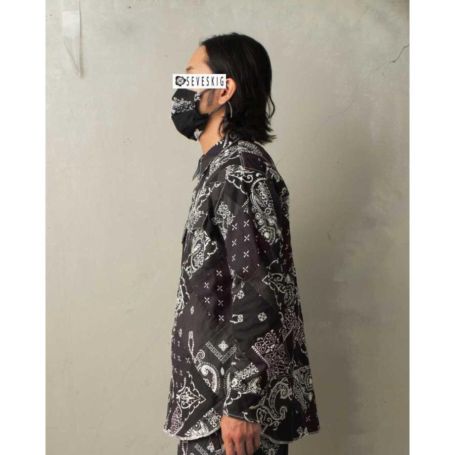 SEVESKIG(セヴシグ) BAN-DANA P.W SHIRT バンダナパッチワークシャツ plus-c 04