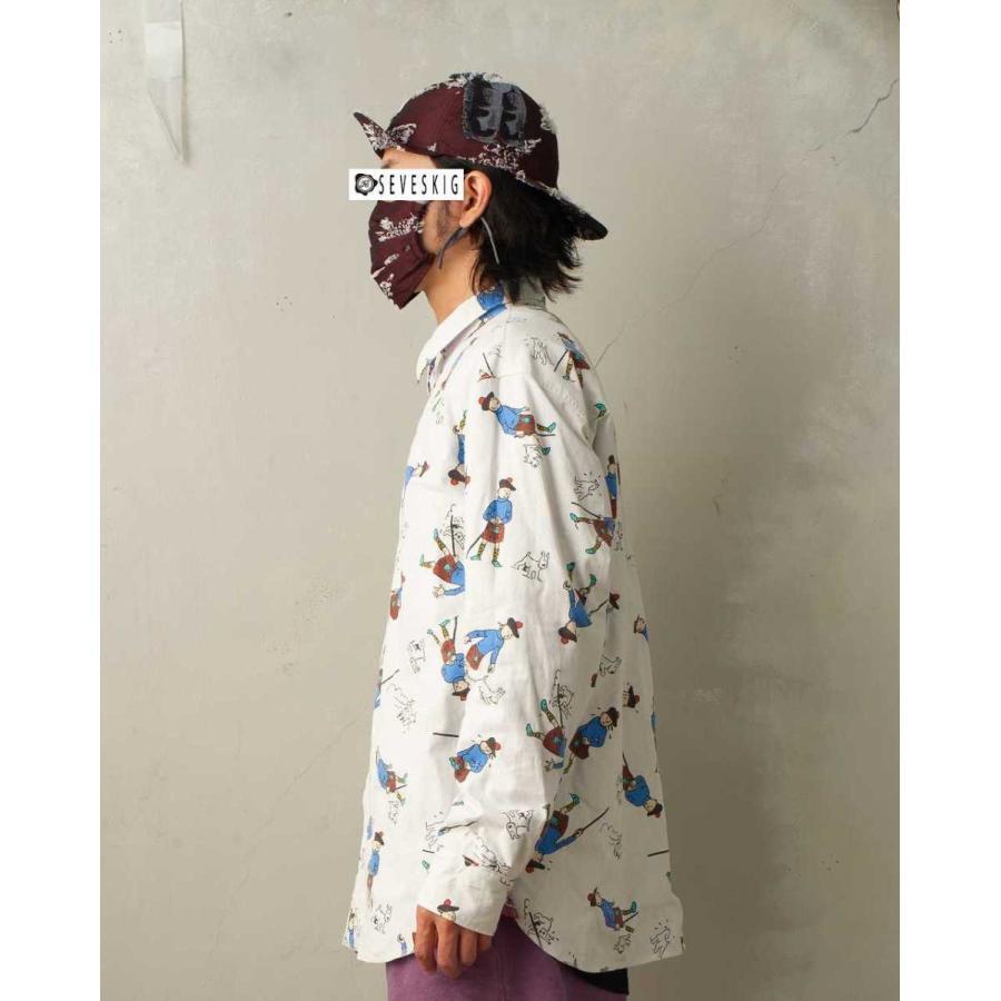 SEVESKIG(セヴシグ) BAN-DANA P.W SHIRT バンダナパッチワークシャツ plus-c 10