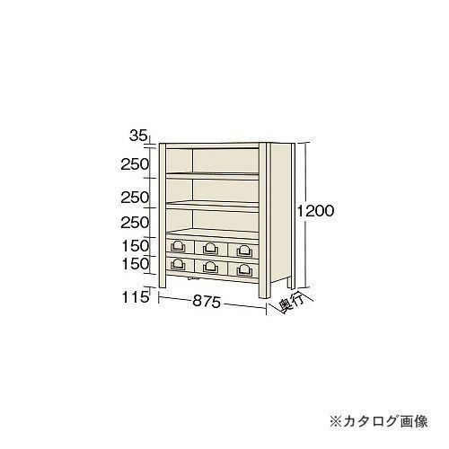 運賃見積り 直送品 サカエ SAKAE 物品棚KW型 KW8126-6