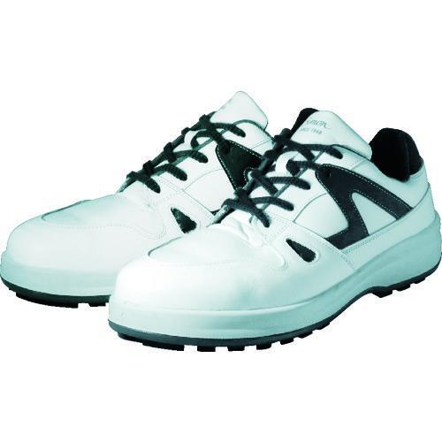 シモン 安全靴 短靴 8611白/ブルー 27.5cm 8611WB-27.5