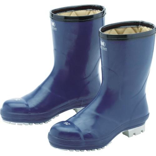 ミドリ安全 氷上で滑りにくい防寒安全長靴 FBH01 ネイビー 26.0cm FBH01-NV-26.0