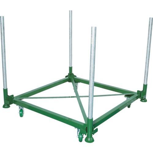 (直送品)TRUSCO 段積みパレット台車 500kg 1100×1100 単管4本付 DPLC05-1111