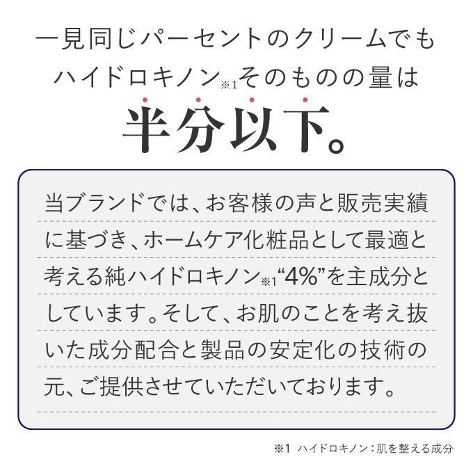 純 ハイドロキノン 4% 配合 クリーム プラスナノHQ|pluskirei|06
