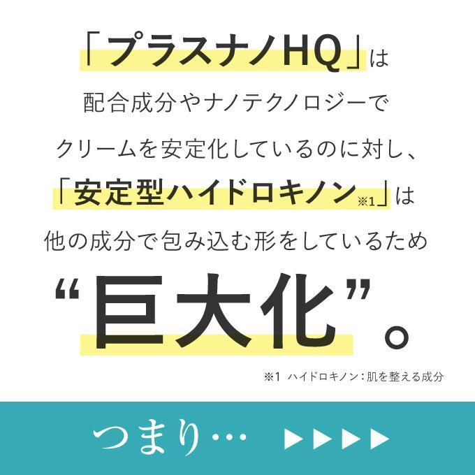純 ハイドロキノン 4% 配合 クリーム プラスナノHQ|pluskirei|08