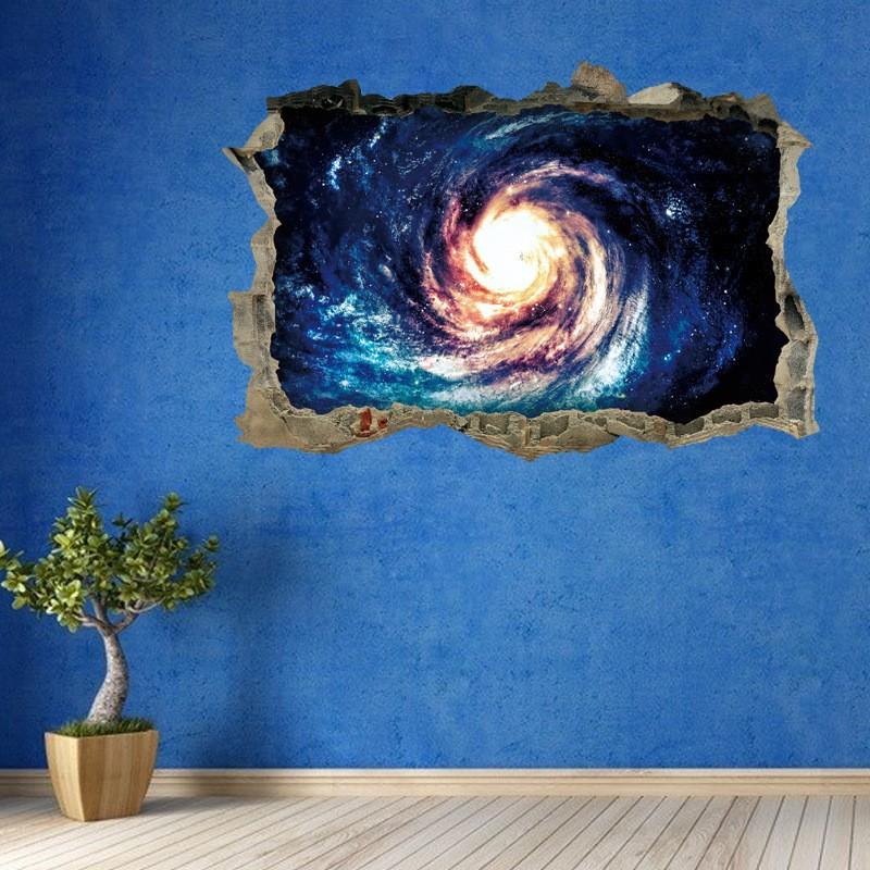 ウォールステッカー 壁紙 壁紙シール ルームデコレーション 壁装飾 トリックアート 3d 立体的 だまし絵 宇宙 ブラックホール かっこいい おしゃれ プラスナオ Paypayモール店 通販 Paypayモール