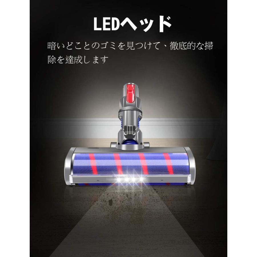 ダイソン LEDヘッド Dyson V7 V8 V10 V11シリーズ専用 モーターヘッド 、交換部品 アクセサリー ソフトローラークリーンヘッド|plusoneoneone|03