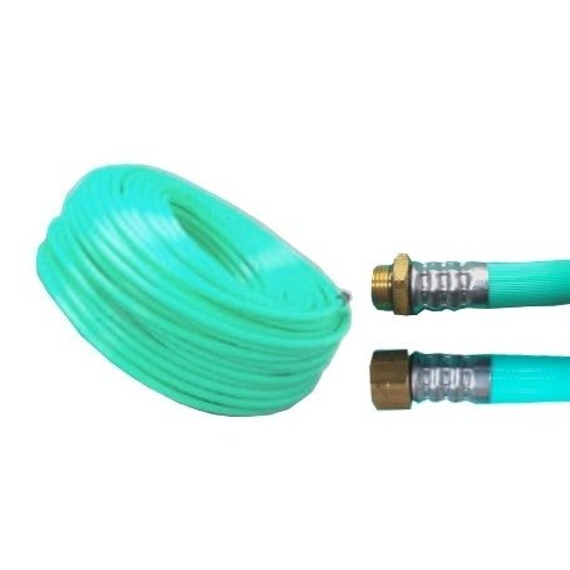 十川ゴム 動噴ホース グリーン軽量スプレーホース 5.0Mpa 11.5mm×100m金具付 防J【代引不可】