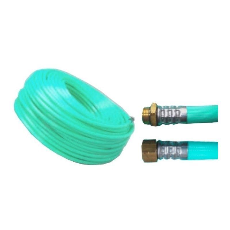十川ゴム 動噴ホース グリーン軽量スプレーホース 5.0Mpa 13mm×50m金具付 防J【代引不可】