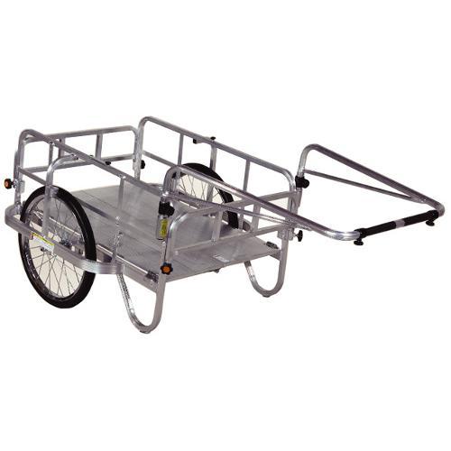 ハラックス アルミ 製 折り畳み式 リヤカー コンパック HC-906 防J【代引不可】