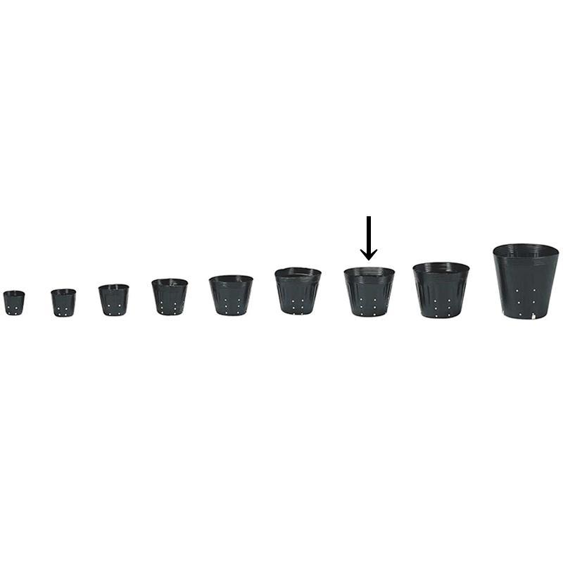 【4000個】 16.5cm 黒 TO ポリポット側面穴付 ( UBタイプ ) ポリポット 東海化成 タ種 【代引不可】