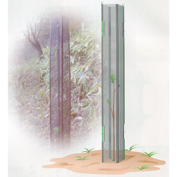 【北海道配送不可】 大日本プラスチック ミキガード 幼木用 黒 MY-1 高さ1500mm 25枚入 カ施【代引不可】
