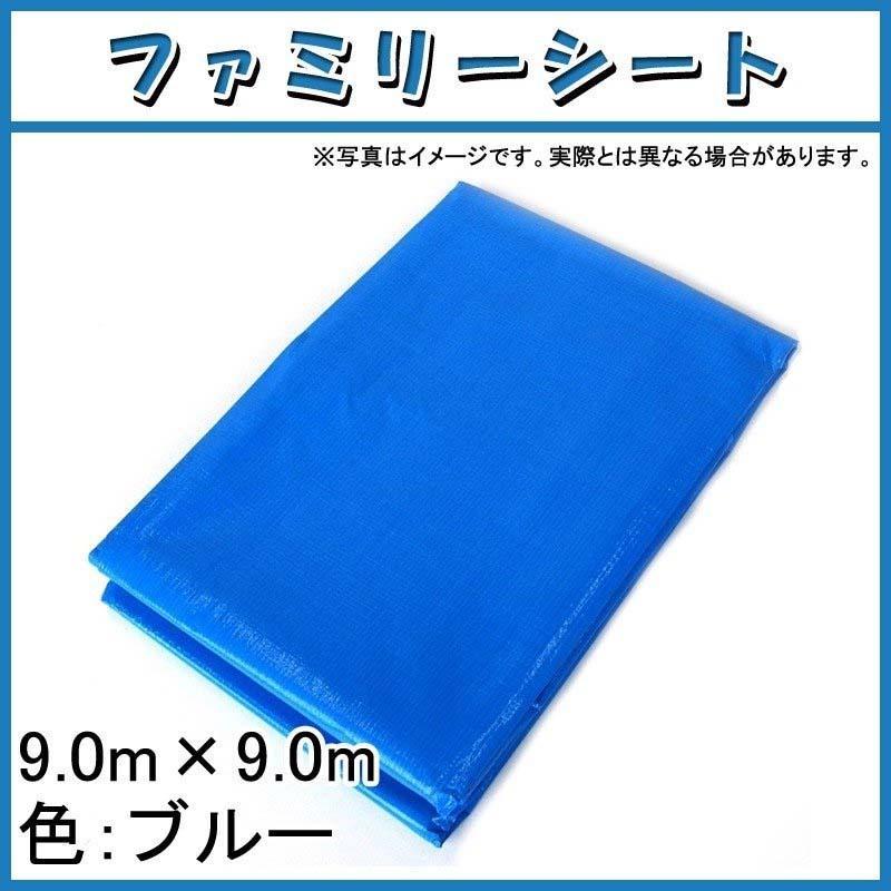 【10枚】 ブルーシート #3000 ファミリーシート 9.0 × 9.0 m ブルー 萩原工業製 国産日本製 ツ化 【代引不可】