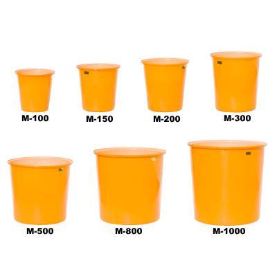 【北海道・東北配送不可】【個人宅配送不可】 スイコー M型容器 (丸型容器) 500リットル ※排水栓付 シB 【送料無料】 【代引不可】