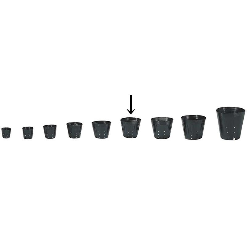【5000個】 15cm 黒 TO ポリポット側面穴付 ( UBタイプ ) ポリポット 東海化成 タ種 【送料無料】 【代引不可】