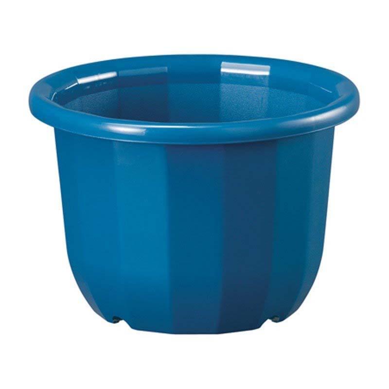 【40個】 中輪鉢 8号 ブルー ポット 鉢 植え替え ベーシックポット ヤマト タ種 【送料無料】【代引不可】 大和