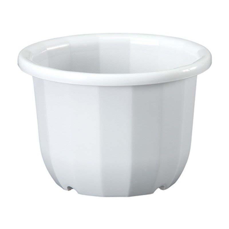 【20個】 中輪鉢 12号 ホワイト ポット 鉢 植え替え ベーシックポット ヤマト タ種 【送料無料】【代引不可】 大和