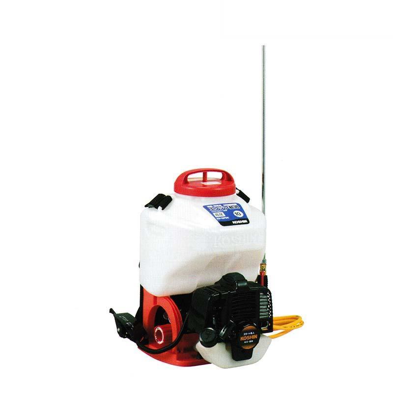 エンジン動噴 ES-10PDX 容量10L 最高圧力3.0MPa 縦型二頭口 / カバー付泡状除草噴口 重量6.9kg 工進 KOSHIN 背負式 消毒 除草 散布 シB 代引不可