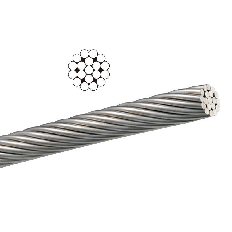 ステンレスワイヤーロープ SUS304 1x19 09275 径3mm 全長 200 m 切断荷重 746kg 国産 浅野金属 アミD