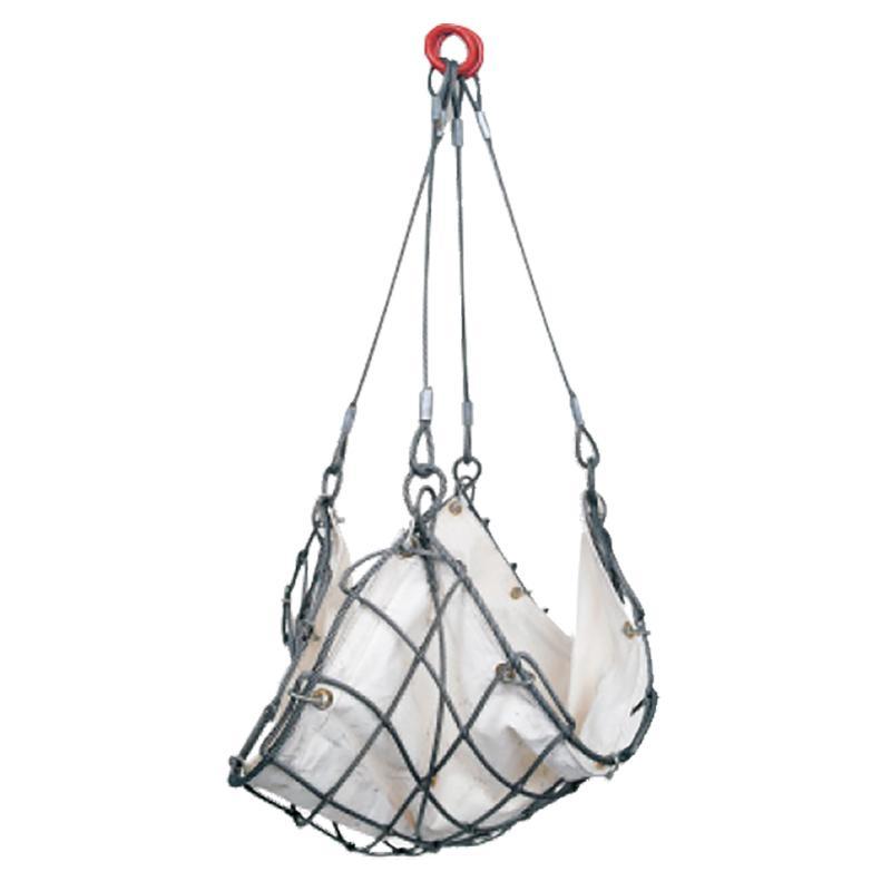 ワイヤーモッコ シート付 (WMS型) WMS1.5×15 寸法 1.5m角  網目寸法 15 cm つり手長さ 1.3 m スリーエッチ HHH