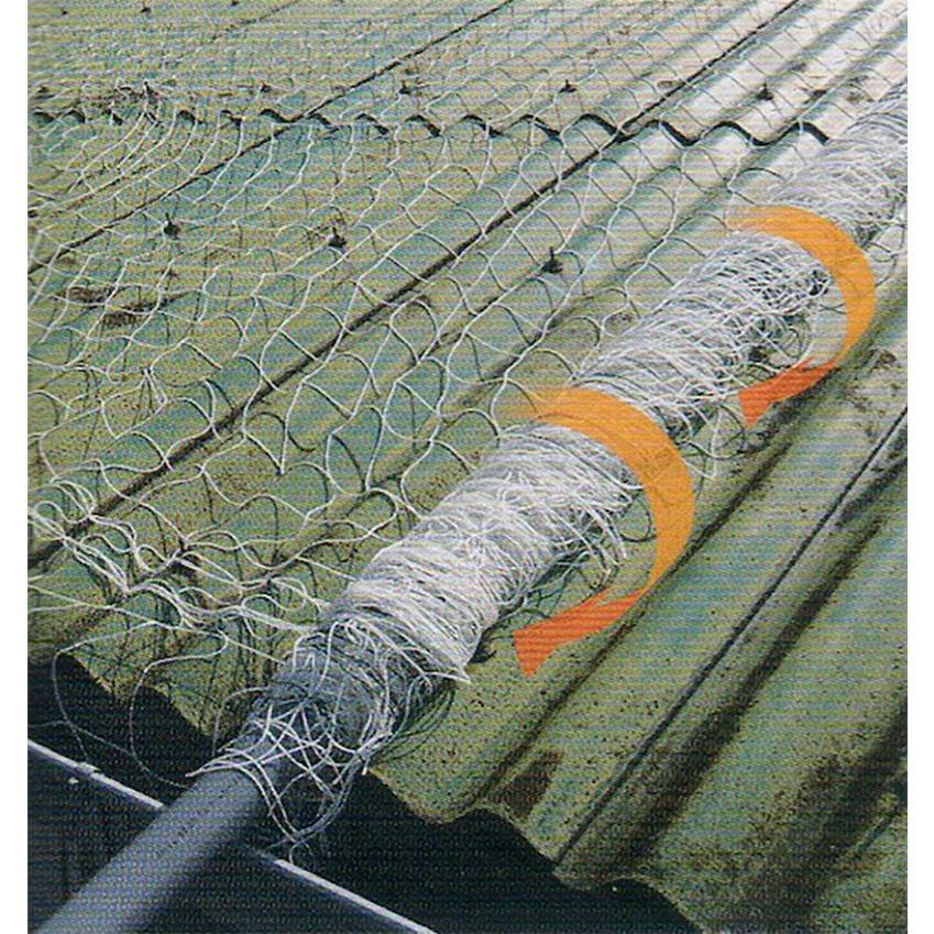 スレート屋根 用 安全ネット エステネット 踏み抜き 落下防止 3.3 m × 40 m パイプ巻き 木下製網 アミ個人宅配送不可 代引不可