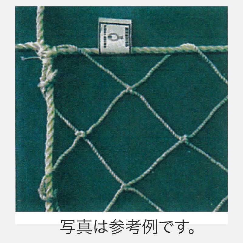 鉄骨用安全ネット (標準品) 3.2 φ×網目 100mm 5m×5m 6枚入 ポリエステル 白 アミ 代引不可