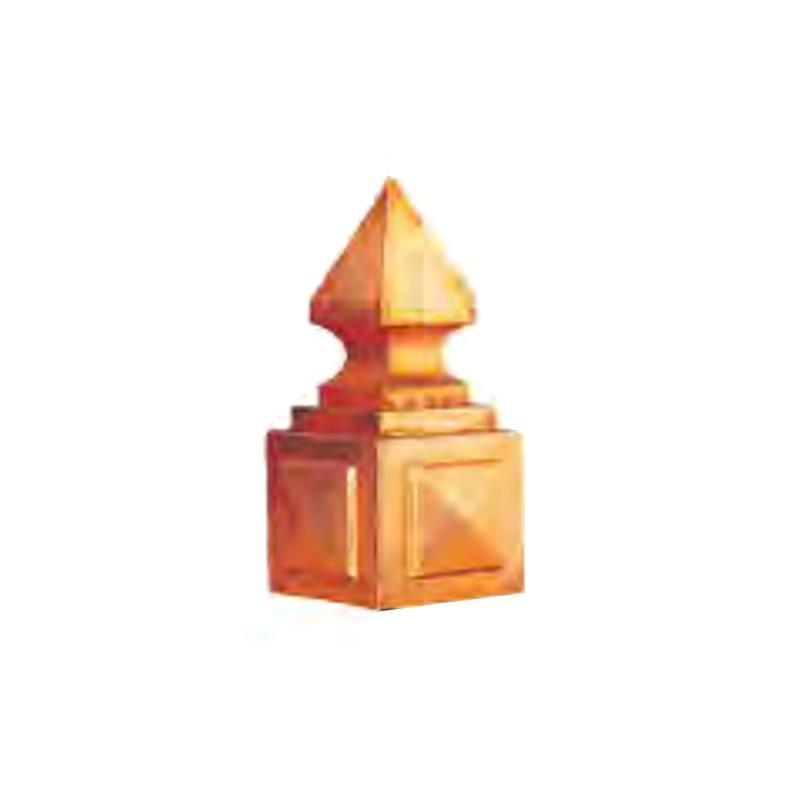 屋根装飾 鬼飾り 洋風鬼型 守護鬼 13-4 方形用4面体 (ガルバリウム) 2個入 洋風 護国 アミ 代引不可