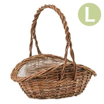 植木鉢 かご ガーデンバスケット ウェーブL 11660|pocchione