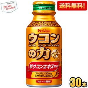 ハウスウェルネス ウコンの力 ウコンエキスドリンク 100mlボトル缶 30本入 (栄養ドリンク)|pocket-cvs