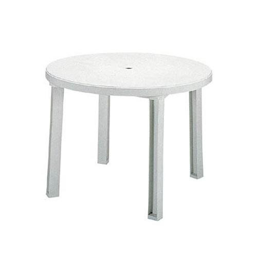 プラスチックテーブル ホワイト 屋外用プラスチックテーブル ガーデン樹脂テーブル