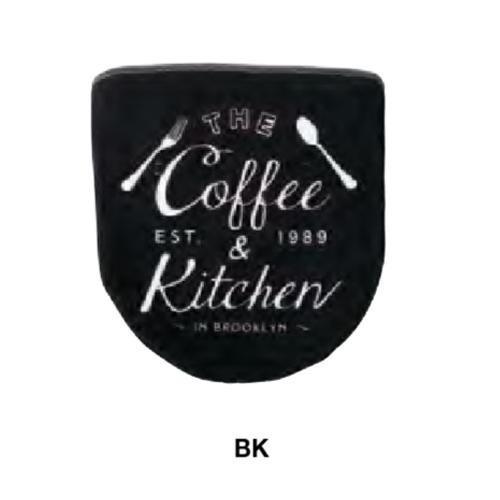 トイレフタカバー The Coffee Street ザ・コーヒーストリート FL-1533 BK|pocketcompany