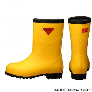 SHIBATA シバタ工業 安全防寒長靴 AC101 セーフティーベア 1011 1011 1011 イエロー フード無し 27センチ 3e8