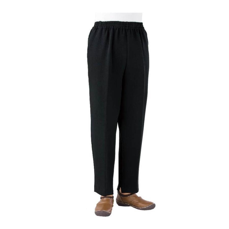 全ての 婦人 L ブラック トレヒート裾ファスナーパンツ 股下55cm 39029-32-介護用品