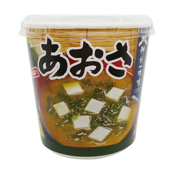まとめ 神州一味噌 おいしいね あおさ塩分少なめカップ 19.0g 1セット 18食:6食×3ケース ×2セット