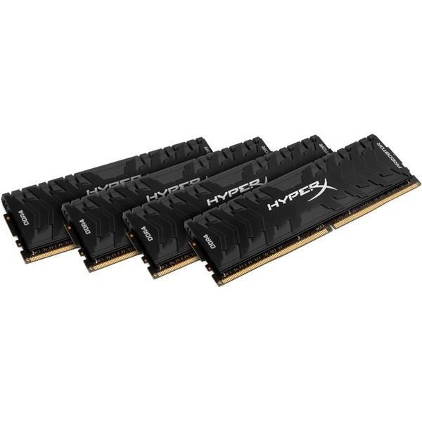 【在庫目安:お取り寄せ】 キングストン HX430C15PB3K4/64 16GBx4枚 DDR4 3000MHz Non-ECC CL15 1.35V Unbuffered HyperX Predator Memory Bl…