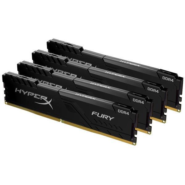 【在庫目安:お取り寄せ】 キングストン HX434C17FB4K4/64 16GBx4枚 DDR4 3466MHz CL17 1.35V HyperX Fury Black OC Unbuffered DIMM PC4-27700