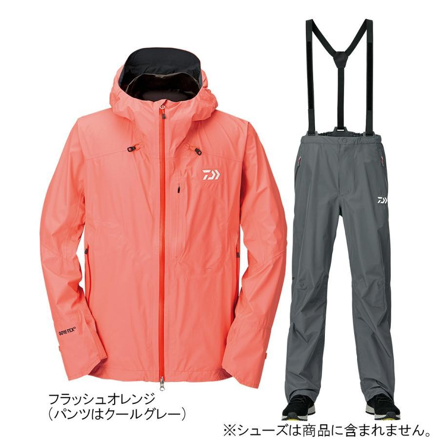 ダイワ ゴアテックス パックライトプラス レインスーツ DR-16009 2XL フラッシュオレンジ(東日本店)
