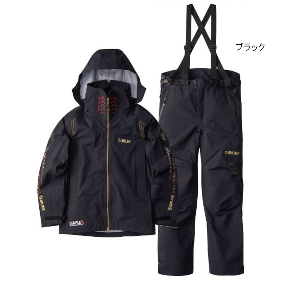 サンライン ディアプレックス オールウェザースーツ SUW-1909 L ブラック(東日本店)