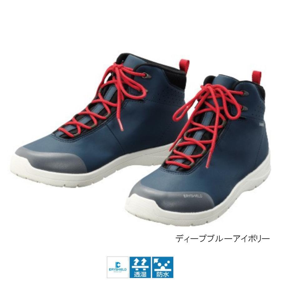 シマノ ドライシールド デッキラジアルシューズ(ハイカットタイプ) FS-061Q 26.5cm ディープブルーアイボリー(東日本店)